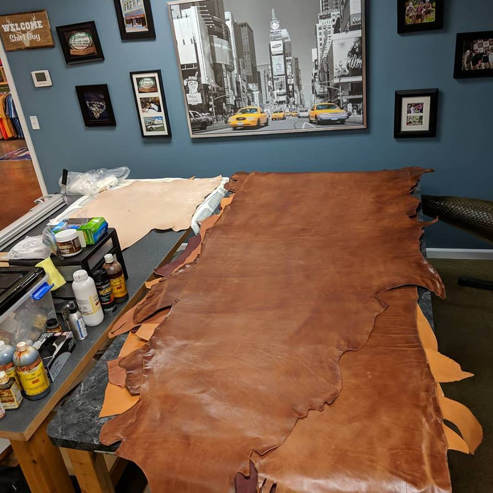 Leather Table